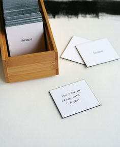 "cutest wedding gift. set of letterpress ""because"" cards to leave around the house with reasons why you love"