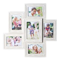 Colorful Picture Frames, Collage Picture Frames, Colorful Pictures, Wall Decor Set, 6 Photos, Shabby Chic Style, Photo Displays, House Colors, Gallery Wall