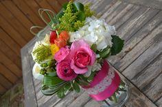 Birthday floral arrangement (peonies, ranunculus, hydrangea)
