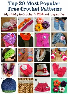 My Hobby Is Crochet: Top 20 Most Popular Free Crochet Patterns| My Hobby is Crochet's 2014 Retrospective