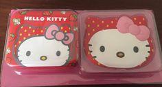 Hello Kitty Strawberry Scented Jewellery Box And Mirror Set Children's Kids Girl