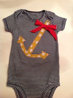 Comfortable Sailor Baby Girl Outfit by Ultra Violet Girl on Etsy, $12.00