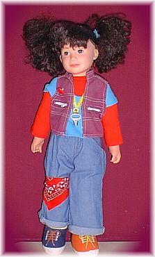 Punky Brewster doll.  In my childhood, pigtails were a sign of complete love because of this show.