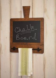 Kitchen Organization Chalkboard With Metal by RchristopherDesigns, $49.99