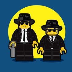 LEGO Illustrations of Iconic 1980s Movie Characters