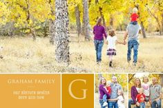 Fall Family Monogram  designed by: Roxanne Buchholz  36 x 24 Wrapped Canvas  Template ID: 109064