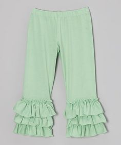 Take a look at this Turquoise Tango Ruffle Leggings - Infant, Toddler & Girls by Mustard Pie on #zulily today!