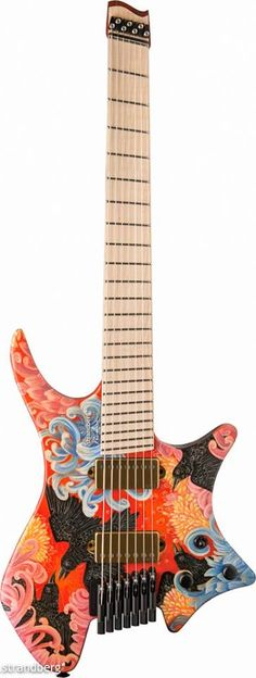 strandberg* artist Yvette Young's new Boden custom painted by Yvette herself is finished and it looks incredible! Guitar features a Mahogany Body, Maple Top, Cocobolo Neck, Flame Maple Fretboard and EMG 57/66 Pickups