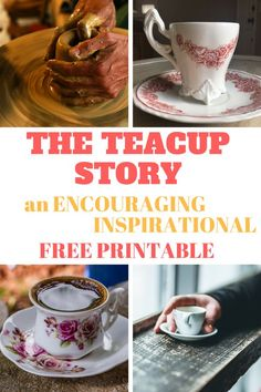 The Teacup Story is an inspirational and encouraging parable based on Jeremiah Receive a printable copy to frame for your personal use. Tea Party Games, Detox Cleanse For Weight Loss, Fat Burning Tea, Christmas Tea, English Christmas, Afternoon Tea Parties, Tea Sandwiches, Tea Recipes, Picnic Recipes