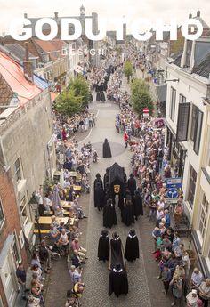 Begrafenisstoet Walraven III van Brederode, Toneelroute Vianen 2016. Funeral of Walraven III of Brederode 2016.