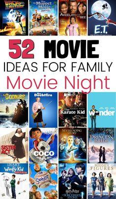 Movie Night For Kids, Movie Night Snacks, Family Movie Night, Movie Nights, Family Movies, Best Kid Movies, Good Kids Movies, Netflix Movies For Kids, Movie Themes