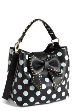 Betsey Johnson 'Hopeless Romantic II' Faux Leather Bucket Bag | Nordstrom