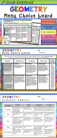 3rd Grade Math Review Choice Board – End of the Year Math Menu ...