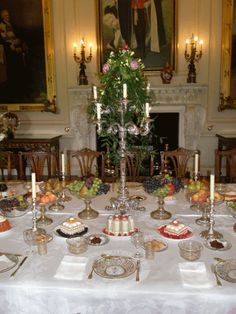 Jelly extravaganza in Harewood House. There is an oval Belgrave jelly in the centre of the table