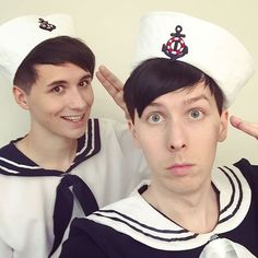 Ahoy Mateys! Excited to launch some new merch tomorrow! Here's a clue  DAN AND PHIL IN SAILOR SUITS IS ALL I NEEDED KSKWOFKNSIEKFBSKFKOALSHKRKAPPW