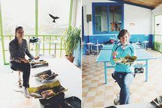 Estas sonrisas confirman el éxito de nuestros tamales n_n // These smiles confirm the succes of our tamales.