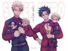 Boku No Hero Academia Funny, My Hero Academia Manga, Anime Dad, Bakugou Manga, Familia Anime, Hero Wallpaper, Amazing Spiderman, Anime Boyfriend, Fantasy Character Design
