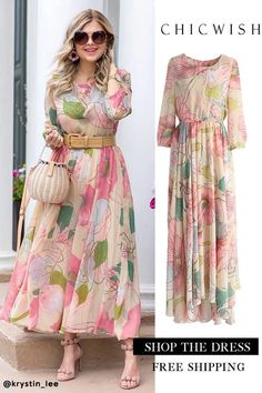 Floral Maxi Dress - Source by - Stylish Dresses, Elegant Dresses, Beautiful Dresses, Casual Dresses, Summer Dresses, Maxi Dresses, Floral Maxi Dress, Chiffon Dress, Boho Dress