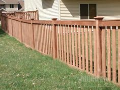 capped cedar fence, vertical boards