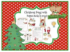 Christmas Songs with Puppet Sticks to match
