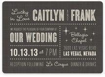 Lucky in Love Wedding Invitations