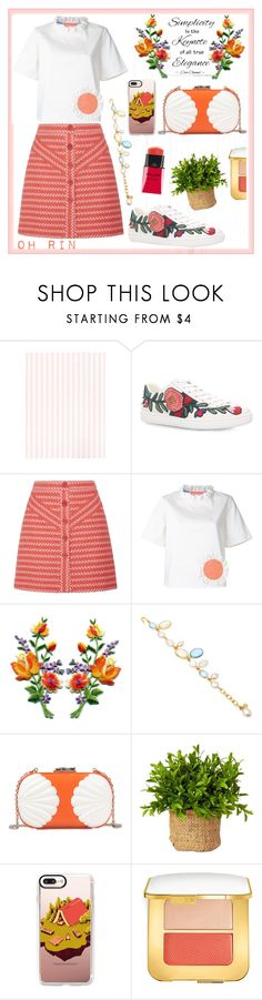 """orange"" by rindularas on Polyvore featuring Gucci, Maje, Paskal, Loulou De La Falaise, Corto Moltedo, Casetify, Tom Ford and Yves Saint Laurent"