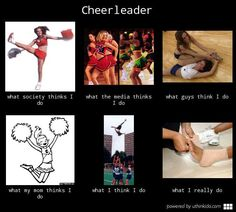 Cheerleader, What people think I do, What I really do meme image - uthinkido.com