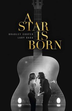 A Star is Born Poster Movie 11 x 17 inches Lady Gaga Guitar Ships SameDay From USA