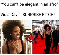 "Isn't this was Producer ""Hollywood"" said, to Amara la Negra on Love and Hip Hop Miami? Haha! I vote that every woman with an afro flood his social media platforms with nothing but selfies and group photos of themselves with their afros!! With the hash tag: #ElegantInAnAFRO"