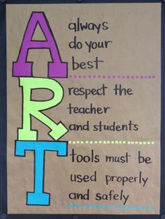 sign for my art classroom rules. Art Classroom Decor, Art Classroom Management, Classroom Organization, Classroom Posters, Classroom Ideas, Art Room Rules, Art Rules, Art Class Rules, Middle School Art