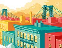NYC illustrations on Behance