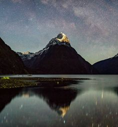 The stars in Milford Sound are a sight to behold!  I've been rather lucky in regards to clear nights here considering it's one of the wettest places in the world! I've gotten to shoot the stars on multiple occasions which makes me feel wonderful!