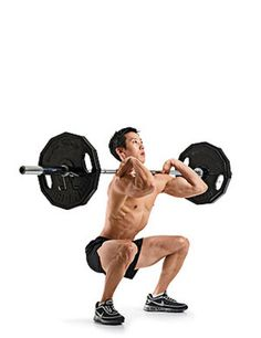 Barbell Front Squat Exercise | Men's Health