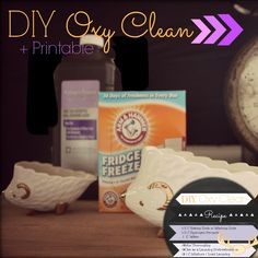 ➷ DIY OxyClean Recipe   Printable Recipe