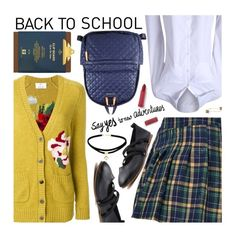 """""""Go Back-to-School Shopping!"""" by beebeely-look ❤ liked on Polyvore featuring Allude, M Z Wallace, L. Erickson, BackToSchool, sammydress, backpacks and back2school"""