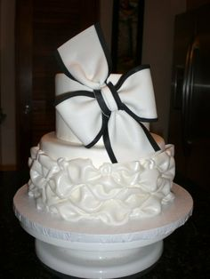 Black and White...  simple yet elegant...all edible