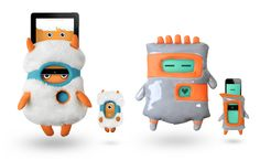 Cute interactive iPad and iPhone cases for kids by Totoya Creatures
