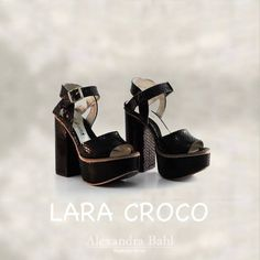 #NEW ARRIVAL! LARA #croco #black #AlexanadraBahl