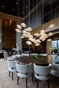 Luxury Interior Design, Interior Design Inspiration, Design Ideas, Luxury Restaurant, Relaxation Room, Dining Room Lighting, Dining Room Design, Modern Room, Cheap Home Decor