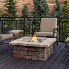 Real Flame Sedona 38 in. Square Propane Gas Fire Table with Optional Tank Cover - JMP309-2