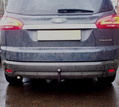 Ford S Max With Pct Automotive Detachable Swan Neck Towbar And  Pin Socket Weather Was Bad That Day