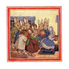 Little Grey Rabbit books were first published in the 40's, written by Alison Uttley with charming illustrations by Margaret Tempest. Happy tales of little grey rabbit, hare, moldy warp the mole, fuzzypeg the hedgehog and the speckeldy hen, very cute!