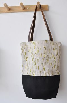 SALE sprout tote bag by bookhouathome on Etsy, $37.00