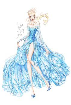 Collection Chiffon Elsa by frozen-winter-prince on deviantART