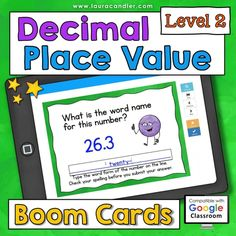 Place Value interactive, self-checking Boom Cards are a fun way for kids to practice place value concepts using numbers with up to 7 digits. They're perfect for distance learning! Includes two versions: Common Core and traditional place value terminology. #placevalue #BoomCards #DigitalTaskCards #DistanceLearning #mathboomcards #mathfun Teacher Hacks, Best Teacher, Place Value With Decimals, Decimal Places, Decimal Number, Engage In Learning, Place Values, Fun Math, Read Aloud