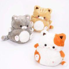 Mocchiri Neko no Kinako Plush Trio - Plushies Kawaii Room, Cute Stuffed Animals, Mode Shop, Cute Plush, Big Bird, Squishies, Cute Toys, Kawaii Cute, Plush Dolls