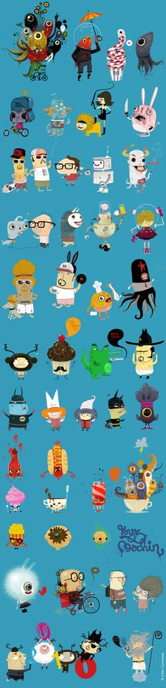 Character Design - - - Julien Canavezes, via Behance