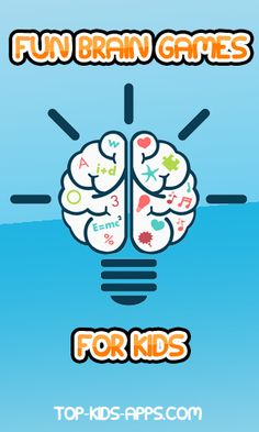 10 Fun Brain Games for Kids to train their planning, memory, and thinking skills Kids Brain Games, Free Brain Games, Fun Brain, Free Games For Kids, Help Kids, Fun Games, Educational Apps For Kids, School Kids, Thinking Skills