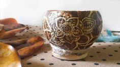 decorative bowl woodburned bowl coconut bowl wedding table decor coconut planter flower pot pyrography bowl by RickiTimberTavi by Ricki Timber Tavi. Find it now at http://ift.tt/1ZUASYu!