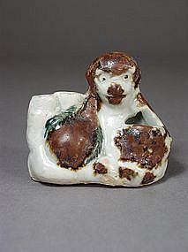 Chinese porcelain water pot in form of monkey